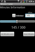 Screenshot of Minutes Tracker