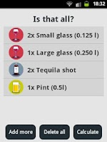 Screenshot of Alcohol Calorie Counter