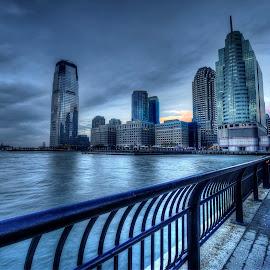 Exchange Place, Jersey City, NJ by Gary Aidekman - City,  Street & Park  Skylines ( skyline, cityscape, jersey city, hudson river, new jersey )
