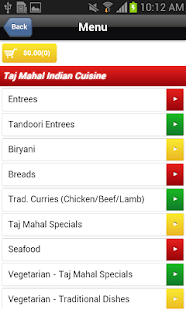 Taj Mahal Indian Cuisine - screenshot