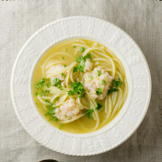 Shrimpball Pasta Soup!