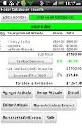 Screenshot of Cotizacion Sencilla