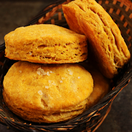 Pumpkin Biscuits by Vrinda Mahesh - Food & Drink Cooking & Baking ( pumpkin biscuits, pumpkin, basket, scones, baking, rustic, baked, biscuits )