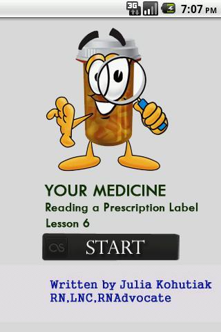 Reading a Prescription Label