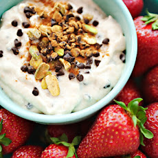 Strawberries with Cannoli Cream Dip