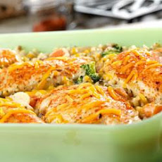 Chicken, Seasoned Rice and Vegetable Casserole