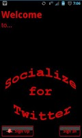 Screenshot of Red Socialize for Twitter