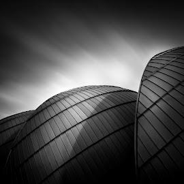 Sphere by Steve De Waele - Buildings & Architecture Architectural Detail ( black and white, fine art, long exposure, architecture )