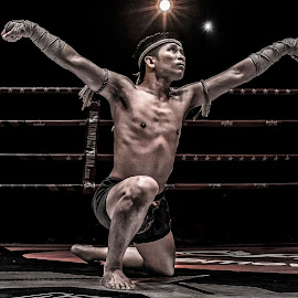 muay thai by Charlo Micallef - Sports & Fitness Boxing ( kick boxing, ritual dance, muay thai, thailand, k1 )