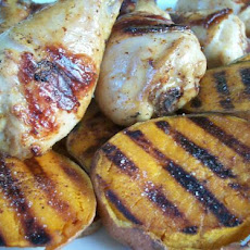 Rachael Ray's Grilled Beer Chicken With Potato Slabs