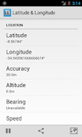 Screenshot of Latitude Longitude Coordinates