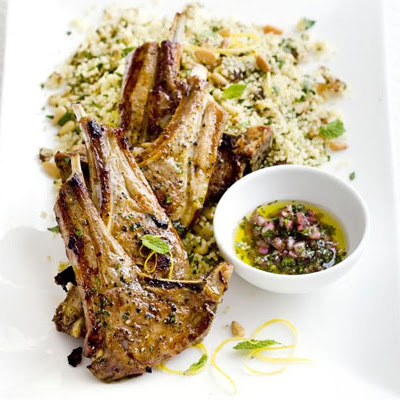 Lamb Chops With Fruity Couscous & Mint