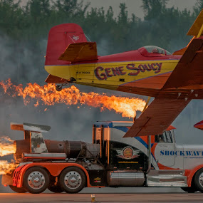 The Race by Clifford Martin - Transportation Airplanes ( shockwave, gene soucy, jet truck, airplane )