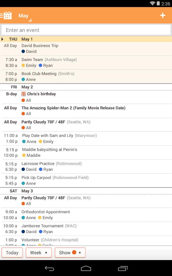 Family calendar app android. Wunderlist To-do list, Reminders, Errands ...
