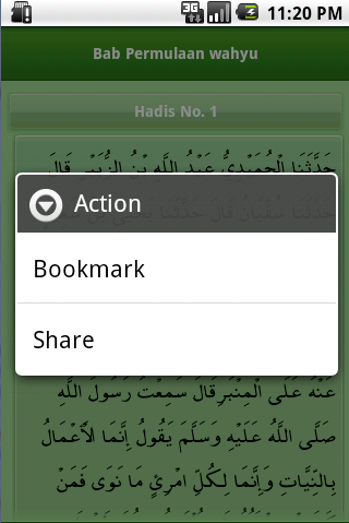 Screenshot #5 of Shahih Bukhari Indonesia / Android