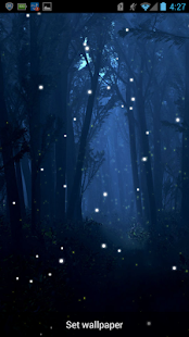 Fireflies Live Wallpaper - screenshot