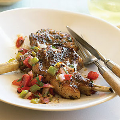 Lamb Chops with Roasted Salsa