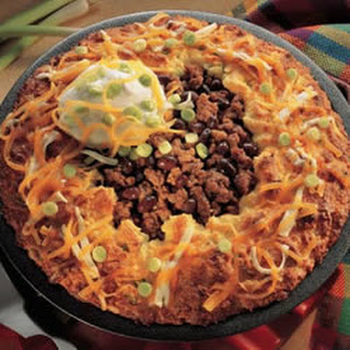 Stuffed Beef and Black Bean Tamale Pie