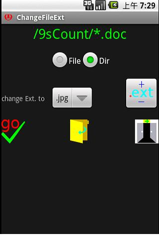 Change File Extension in a dir