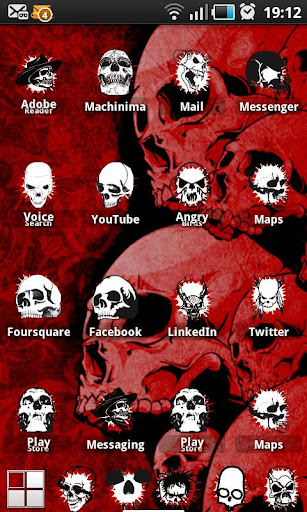 玩免費個人化APP|下載頭蓋骨ADWテーマ app不用錢|硬是要APP