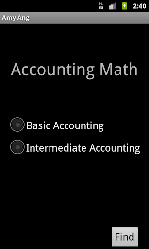 Accounting Math
