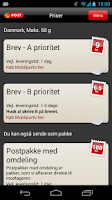 Screenshot of Post Danmark