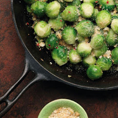 Brussels Sprouts With Spiced Breadcrumbs