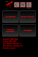 Screenshot of Stargazing Log