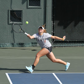 running wide by Ron Tong - Sports & Fitness Tennis ( fitness, sports, exercise, tennis )