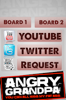 Screenshot of The Angry Grandpa Soundboard
