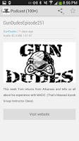 Screenshot of Gun Dudes Radio Podcast