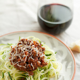 Zucchini Noodles with Italian Bolognese Sauce