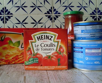 ingredients lasagnes