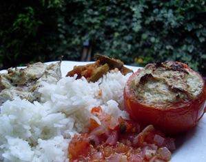 tomates farcies thon assiette