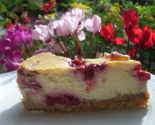 cheese cake choco blanc framboises