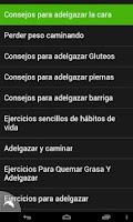Screenshot of Ejercicios para Adelgazar