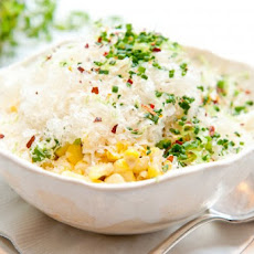 Summer Corn With Lime And Manchego