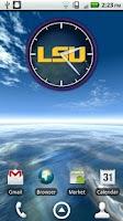 Screenshot of LSU Tigers Clock Widget