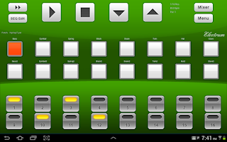 Screenshot of Electrum Drum Machine DEMO