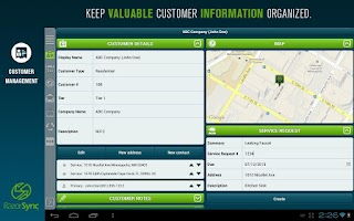 Screenshot of RazorSync Mobile Field Service