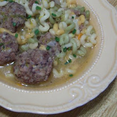 Mother Hubbard Meatball Soup
