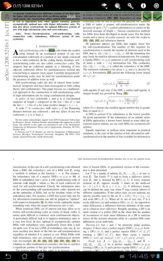 PDF and DJVU Reader Screenshot 2
