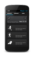 Screenshot of Trainer PRO Run, walk & bike