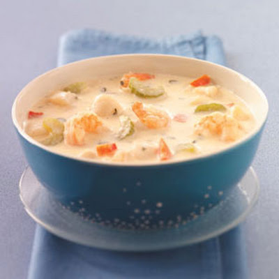 Makeover Creamy Seafood Soup