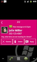Screenshot of Notify - WP7 Magenta Theme