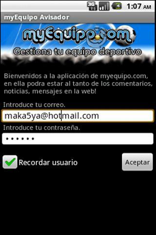 Avisador myEquipo.com