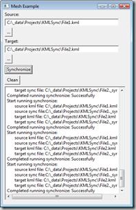 The wonderful KML Sync Demo UI, version 0.000001