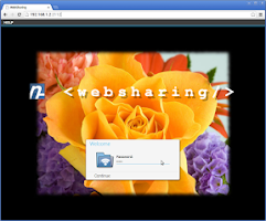 Screenshot of WebSharingLite (File Manager)