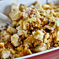 Double Bread Stuffing with Brown Butter, Bacon & Sage