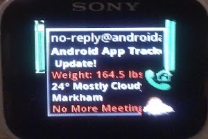 Screenshot of Augmented SmartWatch Notify